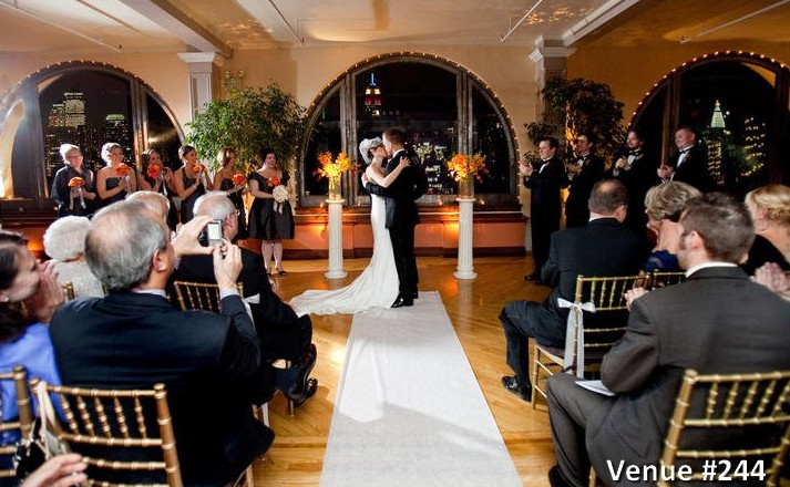 unique hall manhattan venue penthouse rental wedding bride groom