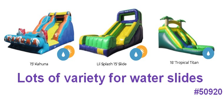 water slide small variety styles 50920