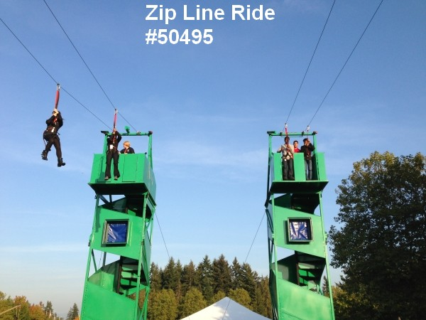 zip line ride rental 2 lines fun 50495